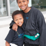 Bilal and Solomon at Kids Martial Arts Class