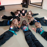 Kids with Emma during Martial Arts Class