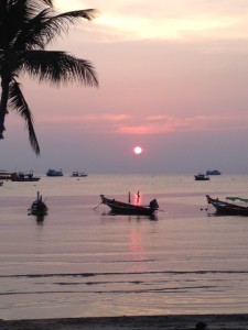 Sunset at Sairee Beach