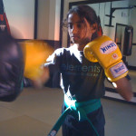 Youth Boxing During Martial Arts Class