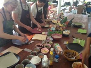 Preparing food as a group