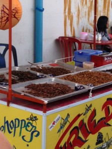 Fried Insect food cart