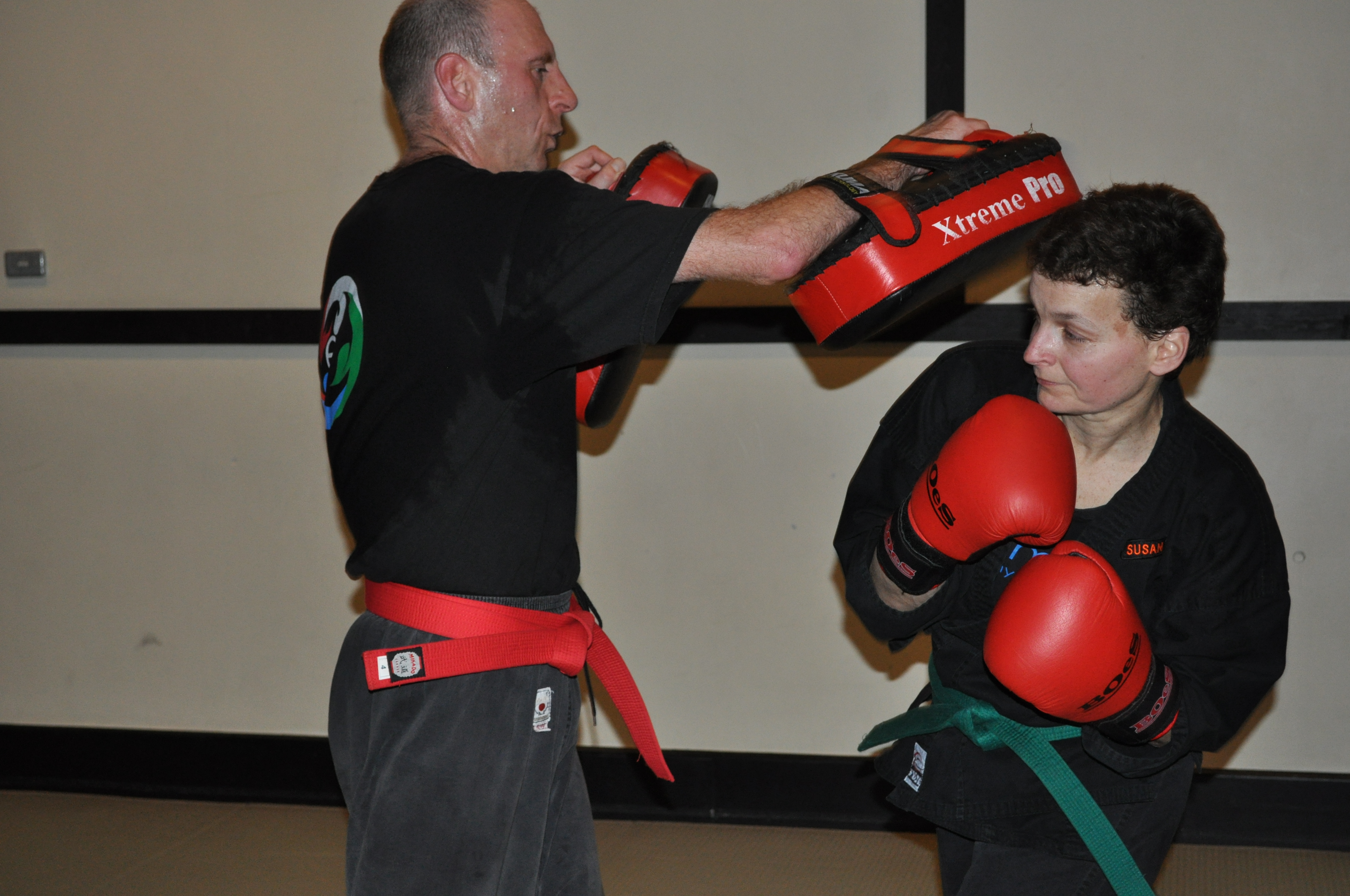 Students Kickboxing at Elements Academy of Martial Arts