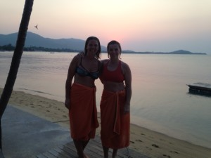 Emma and Mysha in Samui